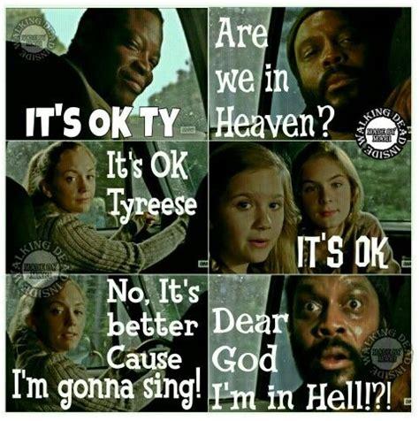 Tyreese Walking Dead Meme - the walking dead memes tyreese beth greene bob stooky mika samuels lizzie samuels