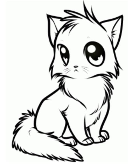 draw anime cat picture drawing stuff pinterest