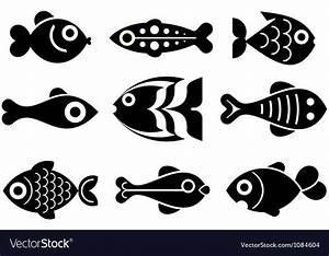 Fish icon set Royalty Free Vector Image - VectorStock