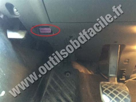 obd connector location  seat exeo