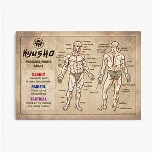 Kyusho Human Body Pressure Points Poster