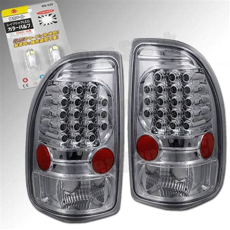 dakota led tail lights purchase 97 04 dodge dakota clear chrome led tail lights