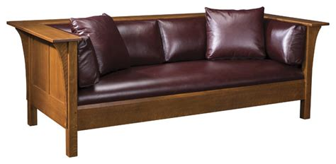 Stickley Mission Leather Sofa by Stickley Prairie Settle 89 91 220