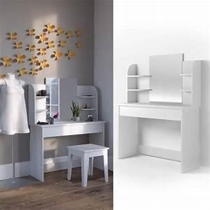Coiffeuse Blanche Ikea : coiffeuse moderne et blanche grand miroir tiroir giulia achat vente coiffeuse coiffeuse ~ Teatrodelosmanantiales.com Idées de Décoration