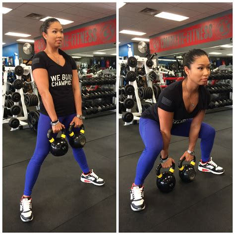 sumo squat kettlebell double trainer increase fitness month variation