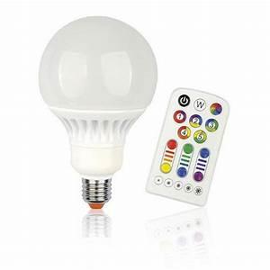 ampoule globe led changement de couleurs telecommande With carrelage adhesif salle de bain avec ampoule led 13w