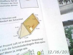 Tetraeder Volumen Berechnen : volumen berechne volumen und materialbedarf der schachtel prisma mit aufgesetzten tetraedern ~ Themetempest.com Abrechnung