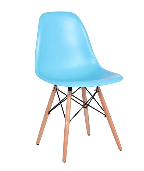 la chaise et bleu chaise design bois pvc coloris bleu lot de 2 luberon