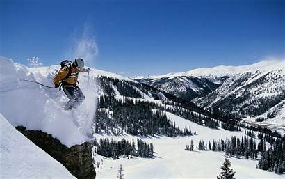 Skiing Mountains Winter Snow Sunlight Sports Season