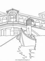 Gondola Italia Venezia Coloring Pages Colorare Da Italy Venice Italian Bambini Paisajes Per Drawings Italie Pisa Colori Uploaded User sketch template