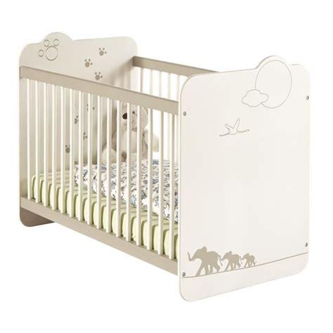 chambre de bébé complete jungle lit bébé 60x120 cm blanc et taupe achat vente