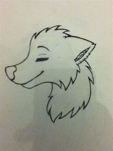 simple wolf drawing art      wolf