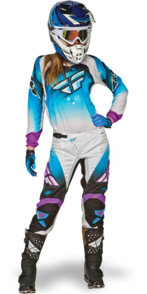 female motocross gear 2014 fly racing kinetic womens girls race pants blue