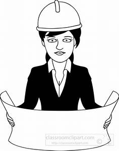 Occupations Clipart- black-white-architect-clipart ...