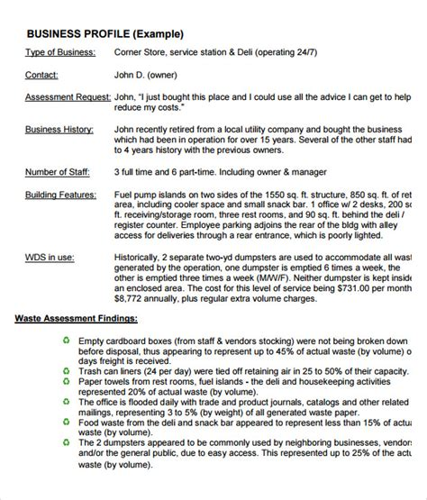 company profile template for small business 6 business profile sles pdf sle templates