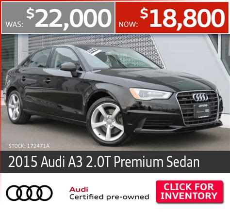 Audi Certified Pre Owned by Certified Pre Owned Vehicle Specials Byers Auto