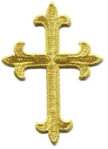 Religious Iron On Embroidered Cross Patch