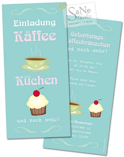 einladungskarten zu kaffee und kuchen und zum geburtstag
