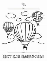 Coloring Steamboat Pages Resort Rich Text Ballons Air sketch template