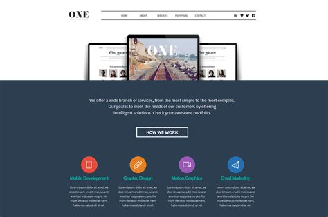 one adobe muse theme website templates on creative market