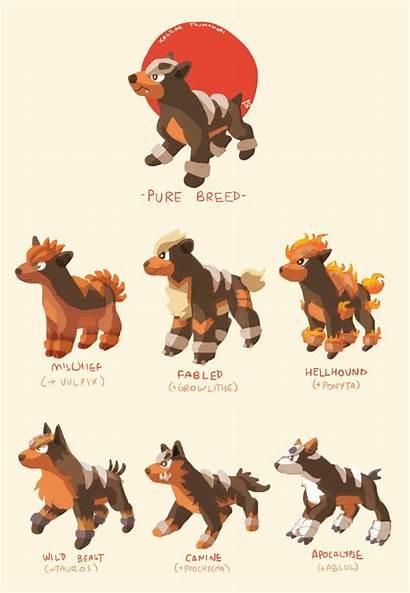 Houndour Variations Pokemon Breeds Poochyena Fusion Deviantart
