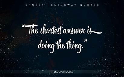 Quotes Hemingway Ernest Cheat Better Happier Profound