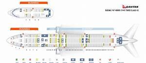 Seat Map Boeing 747 400 Qantas Airways Best Seats In The