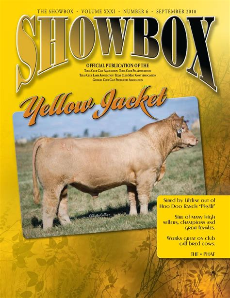 The Showbox Volume Xxxi Number 6 September 2010 By