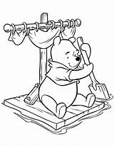 Coloring Pages Pooh Winnie Colouring Raft Cartoon Sitting Printable Drawing Disney Characters Printables Hobby Bear Hmcoloringpages Clip Sheets Preschool Stencils sketch template