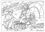 Coloring Camping Pages Colouring Trip Printable Adult Activityvillage Theme sketch template