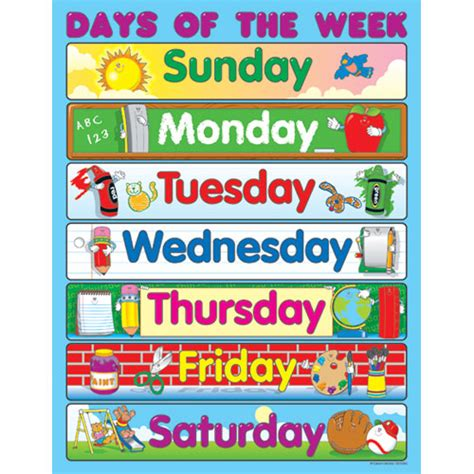 Days Of The Week  New Calendar Template Site