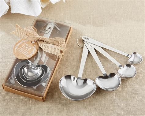 Heart Measuring Spoon Wedding Favors