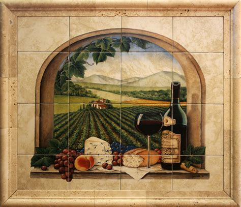 Kitchen Backsplash Tile Murals Ceramic Tile Murals For Kitchen Or Barbeque Backsplash And Bathroom Walls