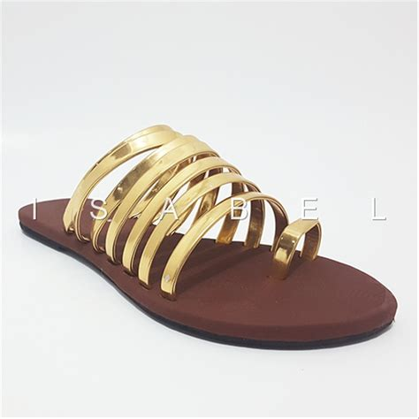 jual sendal kronjo emas sale sandal sendal jepit teplek lucu santai flat shoes flatshoes