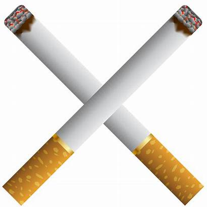 Cigarette Cigarettes Clipart Crossed Burning Smoking Transparent