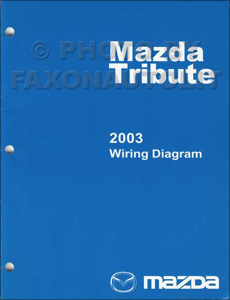 Mazda Tribute Repair Shop Manual Original