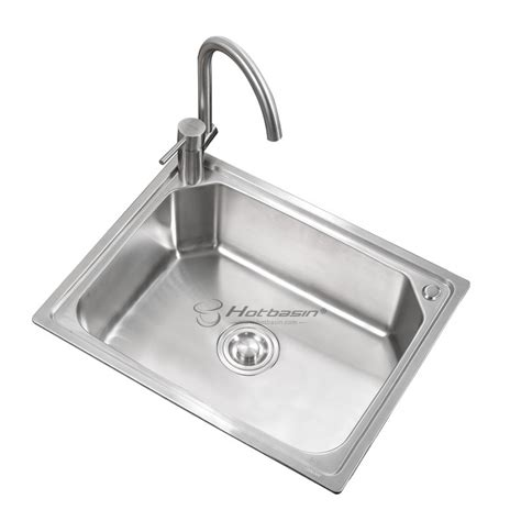 single bowl kitchen sink quality stainless steel single kitchen sinks for 8596