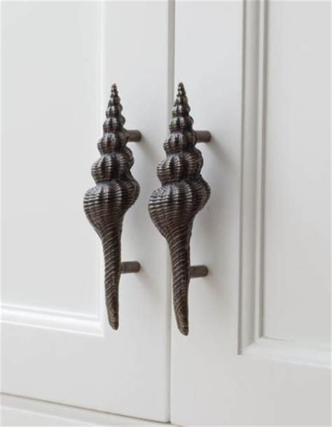 Seashell Cabinet Knobs And Pulls by Coastal Cabinet Knobs And Pulls