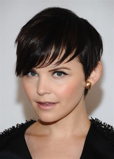 Ginnifer Goodwin Cute Short Dark Straight Haircut with ...