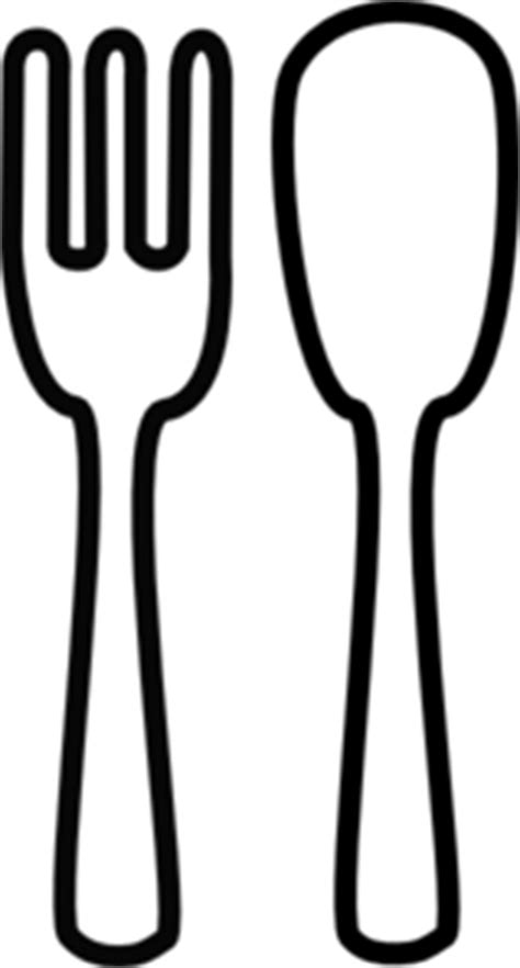 fork and knife clipart black and white fork and knife no background black clip at clker