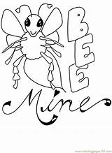 Mine Bee Valentine Coloring Pages Printables Printable Coloringpages101 Others Football Pdf Getcoloringpages sketch template