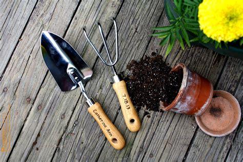 picture of garden tools personalized garden tool set hand trowel short shovel