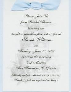 bridal shower invitations sample bridal shower invitation With examples of wedding shower invitations wording