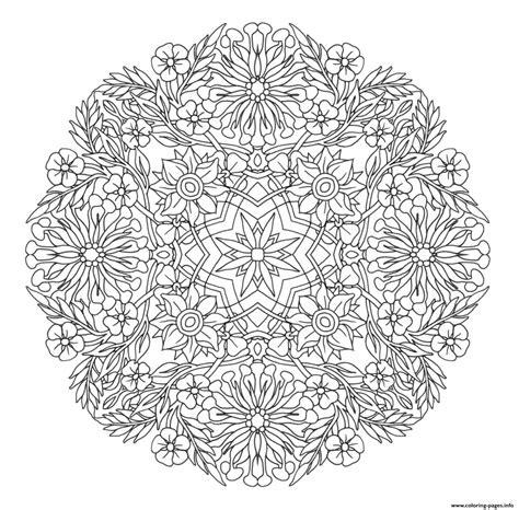 Coloring Mandala by Advanced Mandala Complex Creative Design Coloring Pages