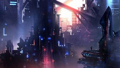 Cyberpunk Cyber Wallpapers Backgrounds Punk Cityscape Futuristic