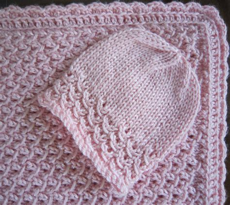 crochet baby blanket pattern sea trail grandmas free knit pattern newborn hat and blanket waves with crochet border with 4