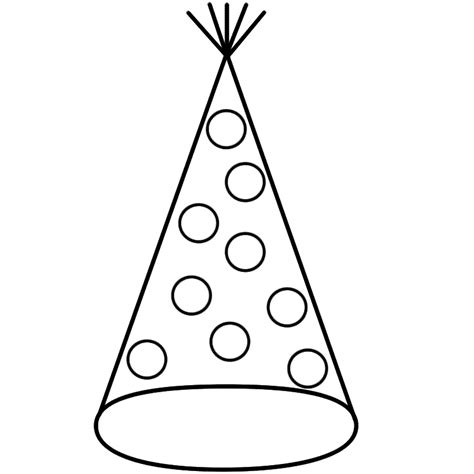 birthday hat clipart black and white black and white hat clipart