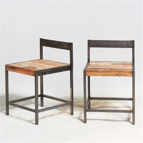 chaise en fer industriel chaise en fer industriel chaise style industriel chaise design fil de fer et pieds en bois