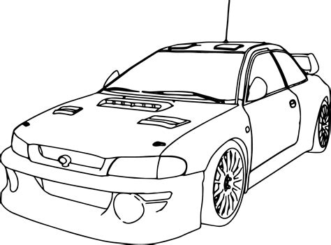 nice Sport Race Car Coloring Page Perspective Cars