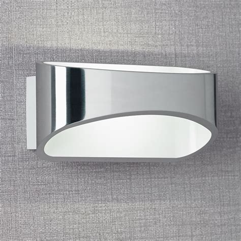 johnson chrome led wall light endon johnson ch